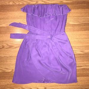Amanda Uprichard $198 Joan Dress Silk Lavendar S